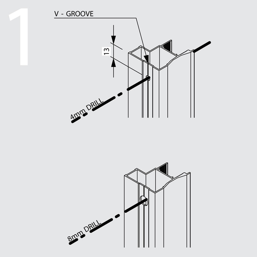 interline sliding door assembly diagrams